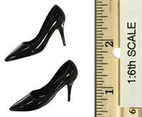 Leopard Dress Set - High Heeled Shoes (Black) (For Feet)