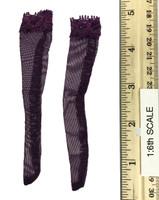Lace Lingerie Set - Stockings (Purple)