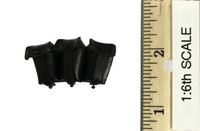 German Grossdeutschland Division Motorcycle Driver - Black Leather Tripple Ammo Pouch (Kar 98k)