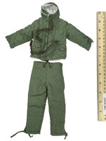 Wehrmacht Paratrooper Padded Winter Jacket Set - Green Double Sided Cotton Padded Outfit