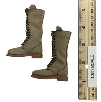 The Entrepreneur - Tall Suede Lace Up Boots (For Feet)