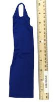 Bodycon Sleeveless Dress Sets - Halter Dress (Blue)