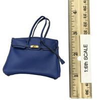 Bodycon Sleeveless Dress Sets - Handbag (Blue)