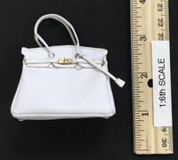 Bodycon Sleeveless Dress Sets - Handbag (White)
