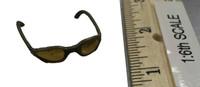 US Navy Seal Team Six K9 Halo Jumper - Sunglasses (Yellow Lenses Tan Frames