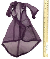 Lace Caped Lingerie Sets - Cape (Purple)