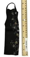 Female Sexy Leopard Dress Set - Qipao (Black)