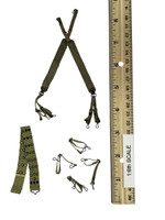 U.S. Army Military Surgeon - Medical Kit Component Suspenders w/ Web Belt