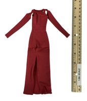 Bare Shouldered Evening Dress - Evening Dress (Red)
