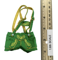 Oktober Girl Shorts Set - Lederhosen (Green)