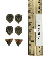 """2nd Armored Division """"Hell On Wheels"""" Sgt. Donald (Special Edition) - Patches (Weathered)"""