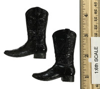 Cowboy Set - Black Weathered Boots  w/ Ball Sockets (Tackey Paint)