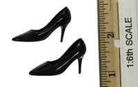 Sexy War Women Suit (Cloth Version) - High Heels (Black) (For Feet)