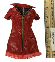 Sexy War Women Suit (Leather Version) - Dress (Red)