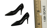 Sexy War Women Suit (Leather Version) - High Heels (Black) (For Feet)