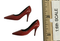 Sexy War Women Suit (Leather Version) - High Heels (Red) (For Feet)
