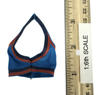 Fire Girl Cheerleader Uniform - Sports Bra (Blue)