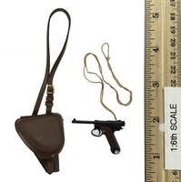 "IJA 32nd Army 24th Division ""Sachio Eto"" - Pistol (Type 14 Nambu) w/ Holster"