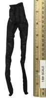 Leather Sleeveless Motorcycle Jacket Set (Female) - Stockings