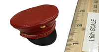 The Queen Style Leather Suit Set - Hat (Red)