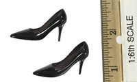 The Queen Style Leather Suit Set - High Heels (Black) (For Feet)