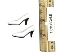 High Split Lace Cheongsam Sets - High Heels (For Feet) (White)