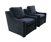 Custom 314 Chair - Swivel Base with Non-tufted Back Cushion - ACK#42198T