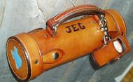 Leather Shuffleboard Weight Case