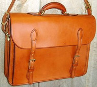 Handmade European Style  Bridle Leather Briefcase