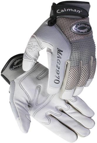 Caiman® Gray Deerskin Leather Mechanics Gloves  ## 2970 ##