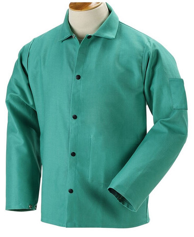 """30"""" Green Fire Resistant FR Jackets  ## F9-30 ##"""