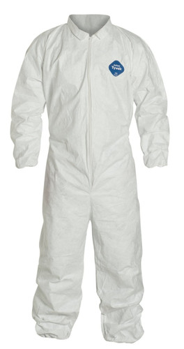 Tyvek® White Coveralls with Elastic Wrist & Ankle ##14125 ##