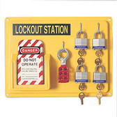 NORTH® Lockout 4 Person Station  ## LSE104F ##