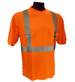Hi-Vis Knit Class 2 Orange T-Shirt  Front ## G821 ##