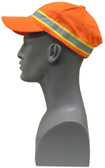 2-Tone Orange Ball Caps with Reflective Stripe  ## HAT-14 ##