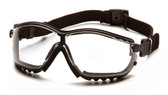 Pyramex® V2G Goggle Style Safety Glasses Clear Lens ##GB1810ST ##