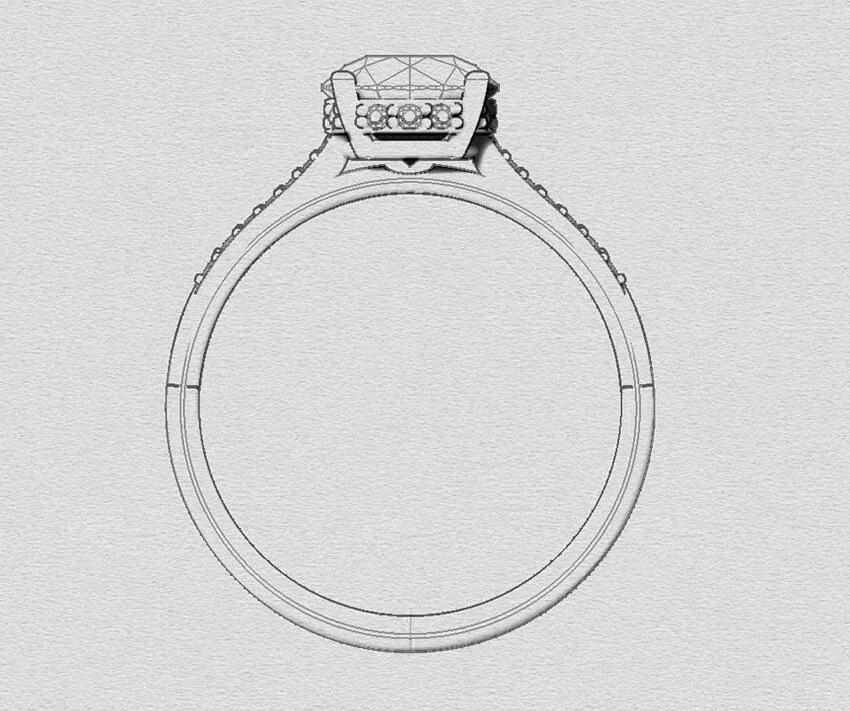 Ethical Engagement Ring Low Profile Setting