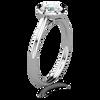Laura Preshong Engagement Ring - Betsy Brilliant Cut Bezel Engagement Ring