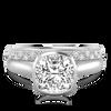 Laura Preshong Engagement Ring - Betsy Cushion Cut Bezel Engagement Ring