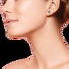 Poppy flower ethical gemstone and gold post earrings