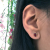 Ethical Gemstone and Recycled Gold Post Earrings