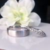 Men's Wedding Band Oval Wire Low Profile