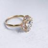 Laura Preshong Ethical Engagement Ring - Natalia Ethical Diamond Baguette Halo Ring