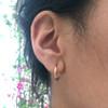 Olive Petite Oval Silver Hoop Earrings
