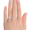 Laura Preshong Ethical Engagement Ring - Molly Ethical Diamond Oval Cut Diamond Halo Ring