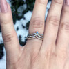 Women's Wedding Band Tiara Ethical Sapphire