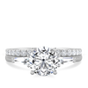 Ethical Engagement Ring Ethical Diamond Tapered Baguette Side Stones