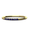 Delicate ethical sapphire stacking ring