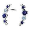 Ethical Blue Sapphire and Aquamarine Nature Inspired Post Earrings