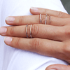 Delicate ethical stacking ring